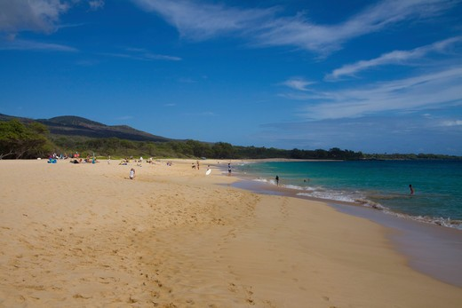 Big Beach on the south coast of Maui, Hawaii : Stock Photo