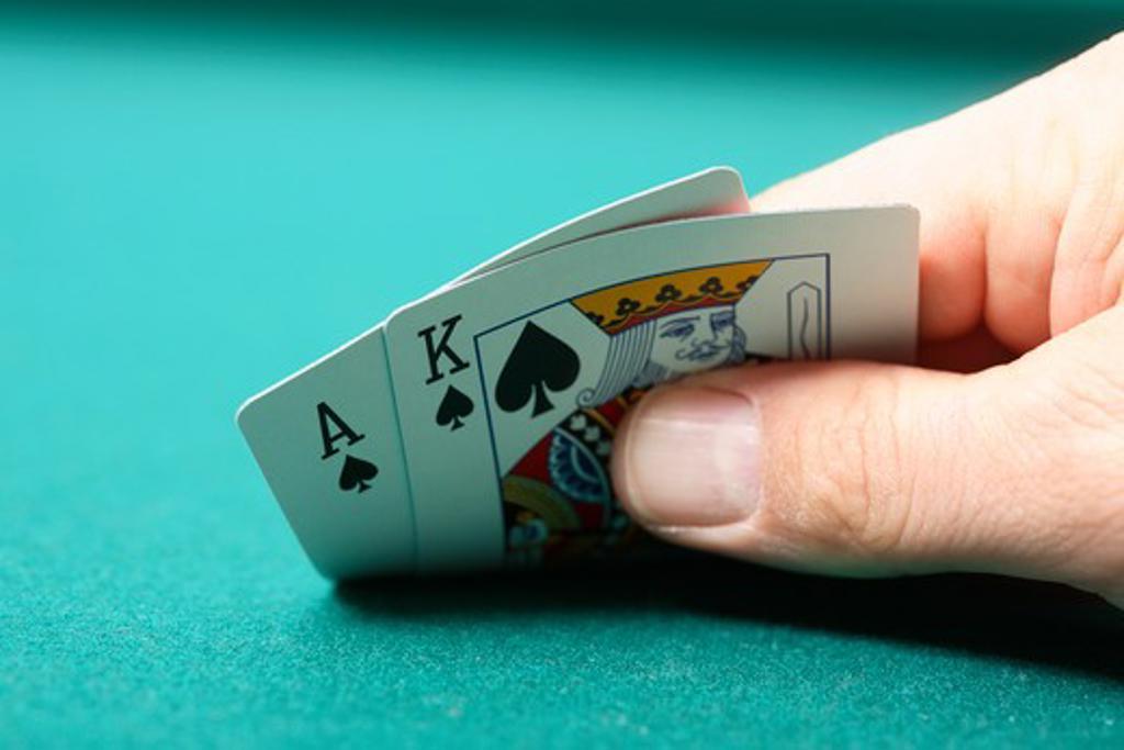 Stock Photo: 4286R-6911 Poker hand