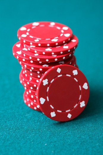 Stock Photo: 4286R-6922 Poker chips