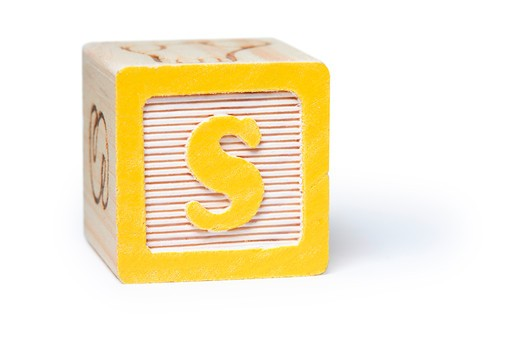 S block : Stock Photo