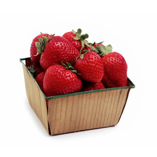Stock Photo: 4286R-7286 Basket of strawberries
