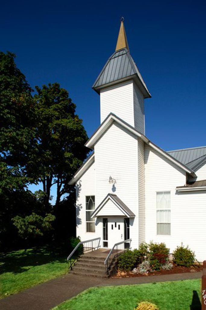 Rural Oregon church : Stock Photo