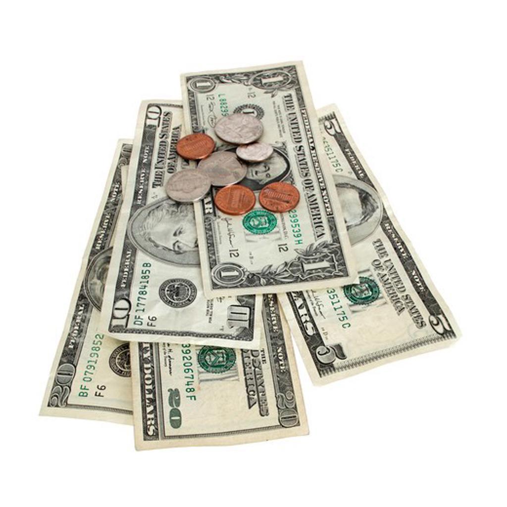 Money and change : Stock Photo