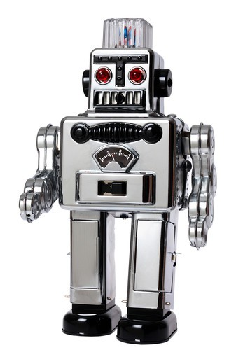 Stock Photo: 4286R-8351 Toy robot