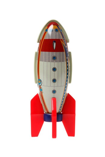 Stock Photo: 4286R-8353 Toy rocket