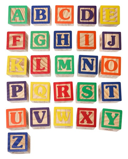 Stock Photo: 4286R-8419 Alphabet blocks