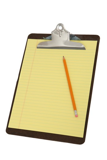 Stock Photo: 4286R-8421 Notepad with pencil