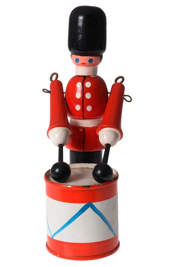 Stock Photo: 4286R-8478 Drumming soldier toy