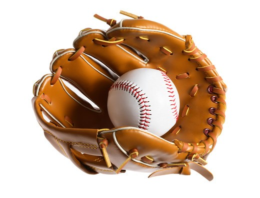 Stock Photo: 4286R-8485 Baseball and mitt