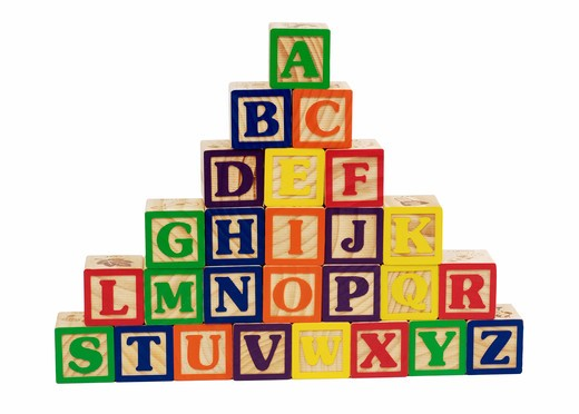 Stock Photo: 4286R-8630 Alphabet blocks