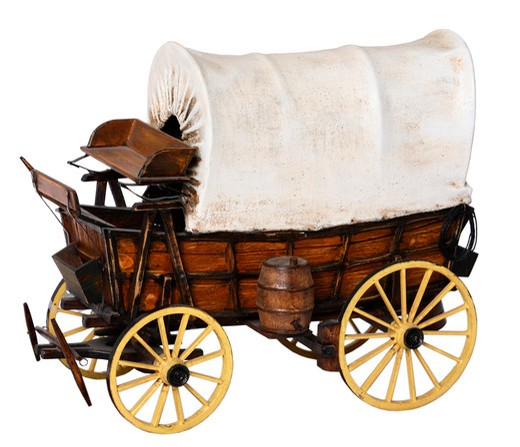 Stock Photo: 4286R-8708 Covered wagon model