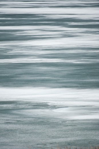 Stock Photo: 4288-1673 Frozen lake, Montana, USA.