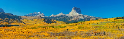 Stock Photo: 4288-1694 Fall colors in Glacier National Park, Montana, USA.