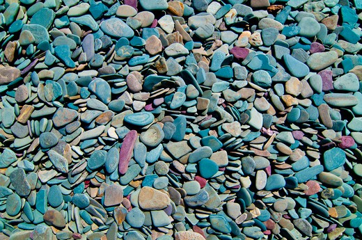 Stock Photo: 4288-1766 Rocks in the surf at Glacier National Park, Montana, USA.