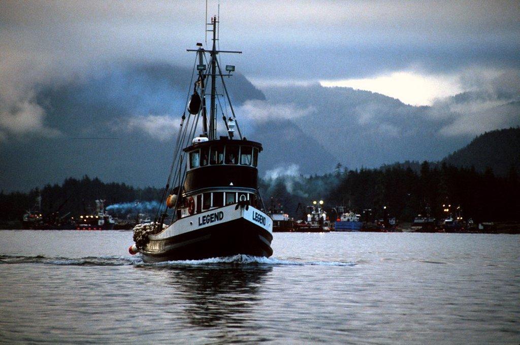 Salmon seiner *Legend* in Tongass Narrows, Ketchikan, Alaska : Stock Photo