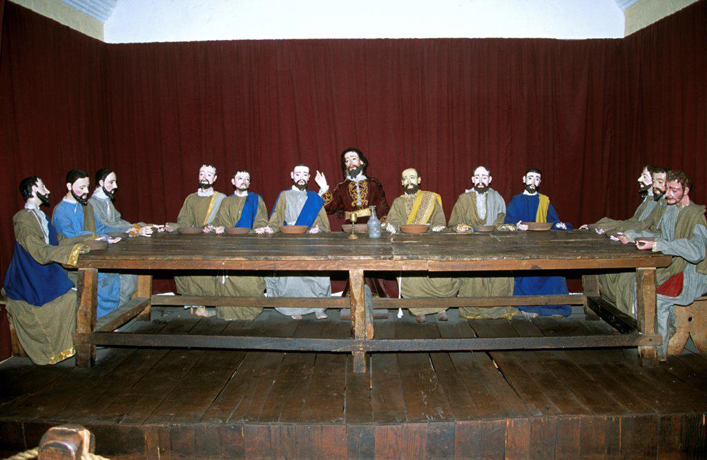 Stock Photo: 4290-10063 Model of The Last Supper, Santa Catalina Convent, Arequipa, Peru
