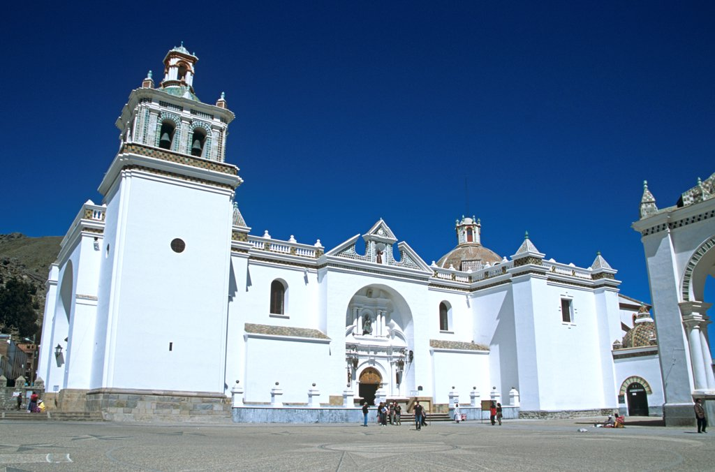 Stock Photo: 4290-10105 Virgin of Copacabana Church, Copacabana, Lake Titicaca, Bolivia