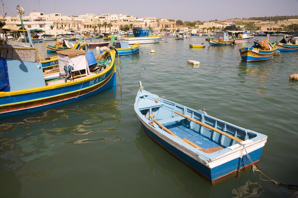 Stock Photo: 4290-1321 Marsaxlokk Harbour, Marsaxlokk, Malta