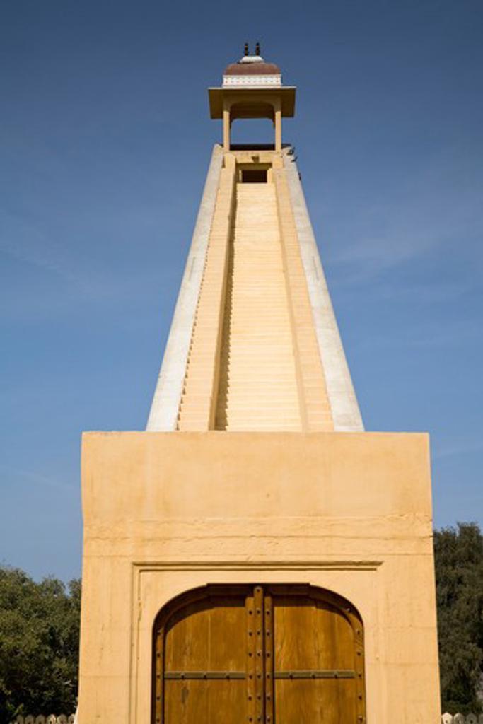 Vraht Samrat Yantra, in Jantar Mantar Observatory, Jaipur, Rajasthan, India : Stock Photo