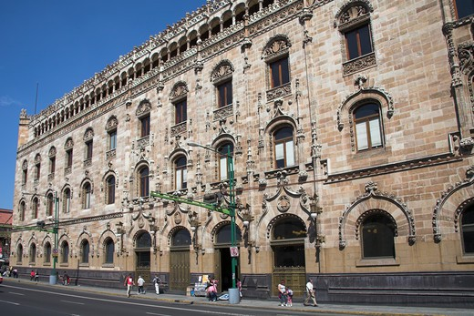 Correo Central, Post Office, Postal Museum, and Library, Tacuba, Eje Central Lazaro Cardenas, Mexico City, Mexico : Stock Photo