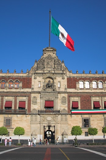 Stock Photo: 4290-1838 Palacio Nacional, Presidential Palace, Zocalo, Plaza de la Constitucion, Mexico City, Mexico