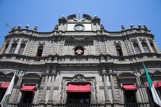 Stock Photo: 4290-1868 Palacio Municipal, Avenida Reforma, Puebla, Mexico