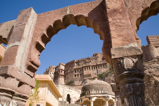 Stock Photo: 4290-2073 Mehrangarh Fort, Jodhpur, Rajasthan, India