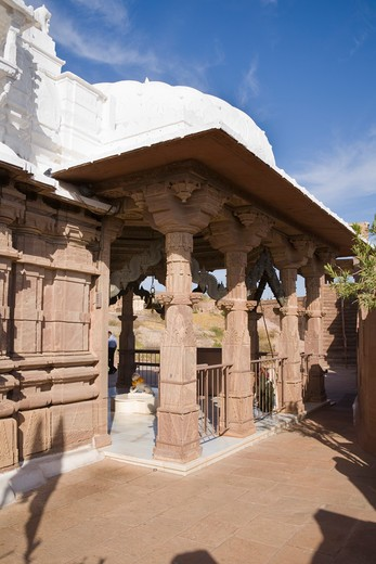 Chamunda Temple in the grounds of Mehrangarh Fort, Jodhpur, Rajasthan, India : Stock Photo