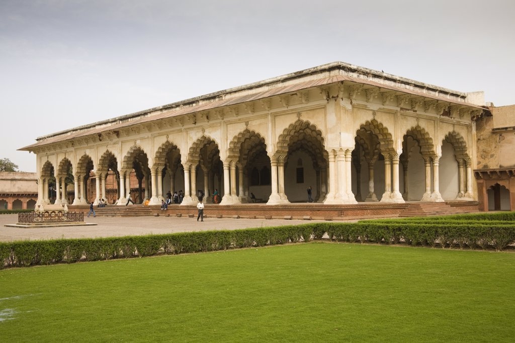 Stock Photo: 4290-2389 Diwan-i-Am, Hall of Public Audience and garden, Agra Fort, also known as Red Fort, Agra, Uttar Pradesh, India