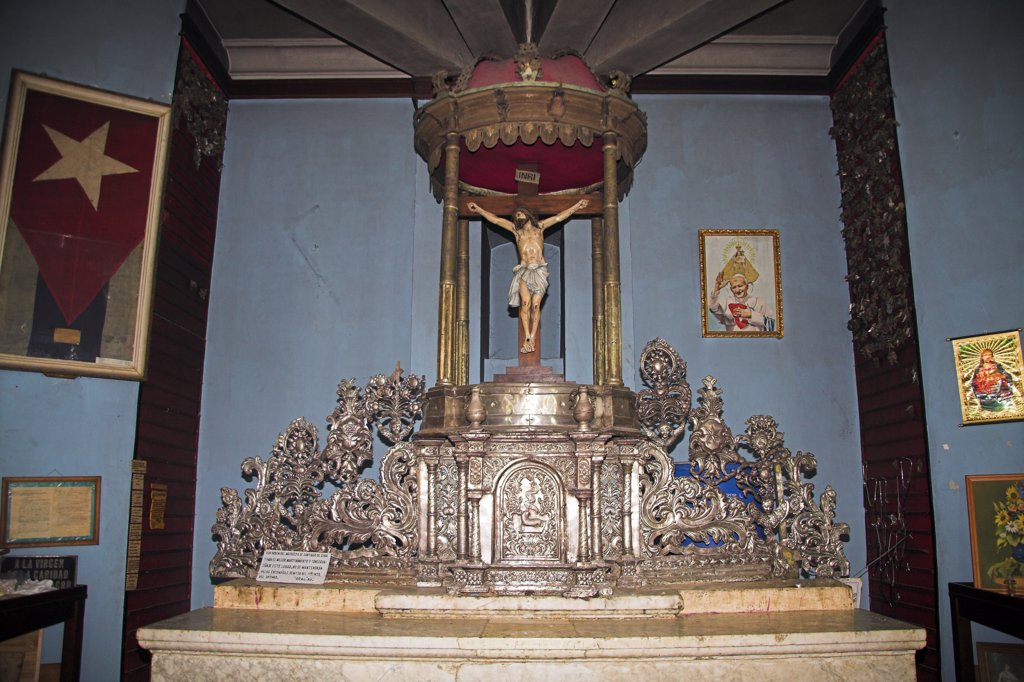 Stock Photo: 4290-2661 Part of an altar, Iglesia Virgen de la Caridad del Cobre, El Cobre, near Santiago de Cuba, Cuba
