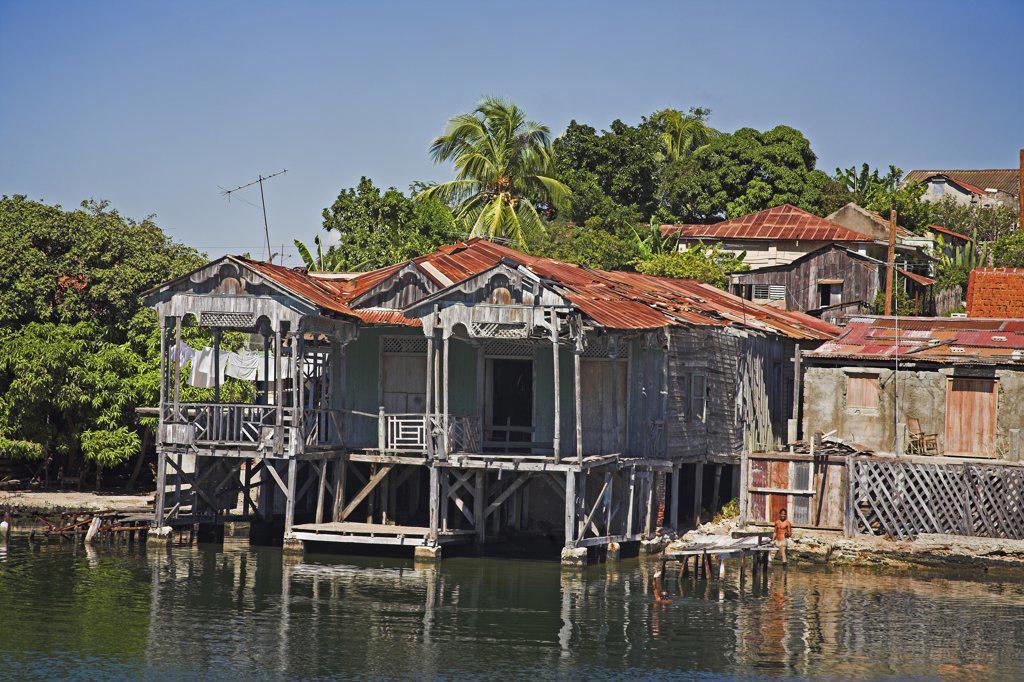 Stock Photo: 4290-2744 House on the shore of Cayo Granma, Santiago Bay, Santiago de Cuba, Cuba