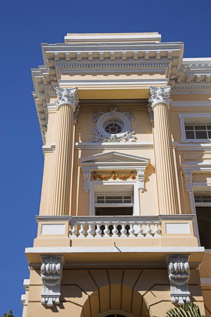 Balcony of the Palacio Provincial, Santiago de Cuba, Cuba : Stock Photo