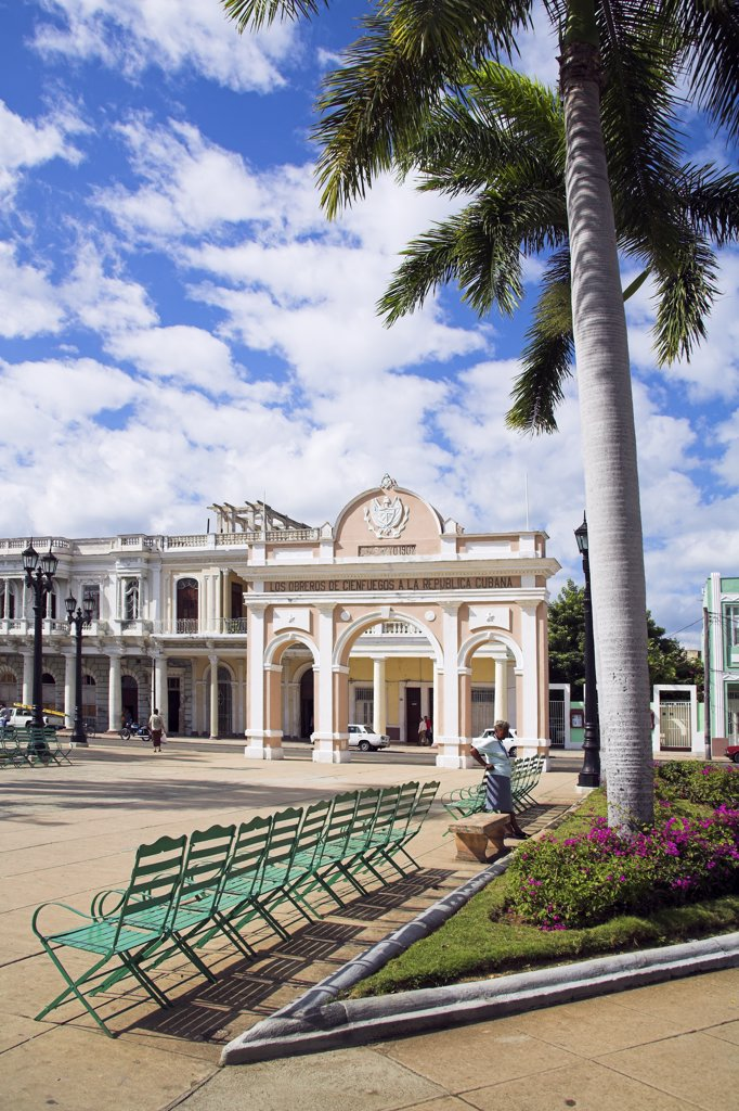 Stock Photo: 4290-2868 Triumphal arch, commemorating birth of Cuban Republic, Parque Jose Marti, Cienfuegos, Cienfuegos Province, Cuba