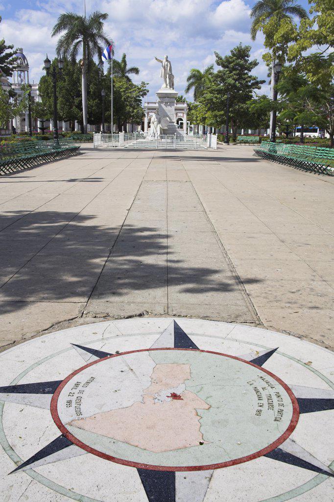 Stock Photo: 4290-2882 Monument to Jose Marti, Parque Jose Marti, Plaza de Armas, Cienfuegos, Cienfuegos Province, Cuba