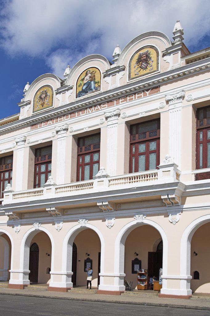 Stock Photo: 4290-2883 Teatro Tomas Terry, Tomas Terry Theatre, Parque Jose Marti, Plaza de Armas, Cienfuegos, Cuba