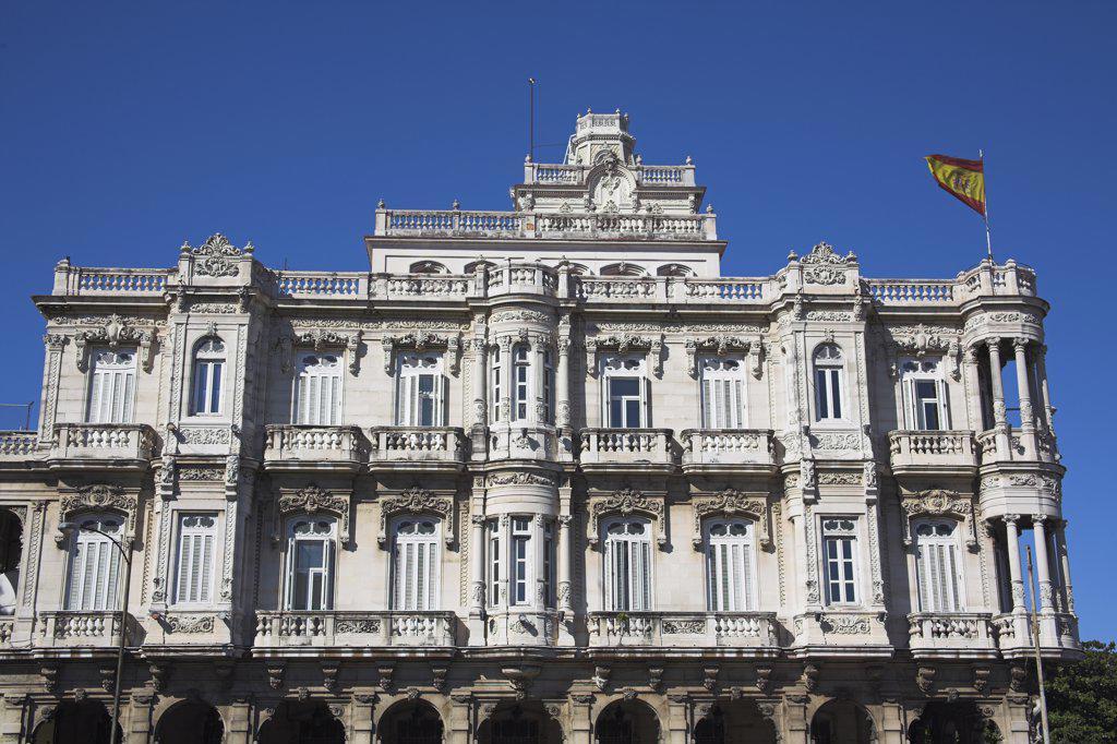 Spanish Embassy, Havana, La Habana Vieja, Cuba : Stock Photo