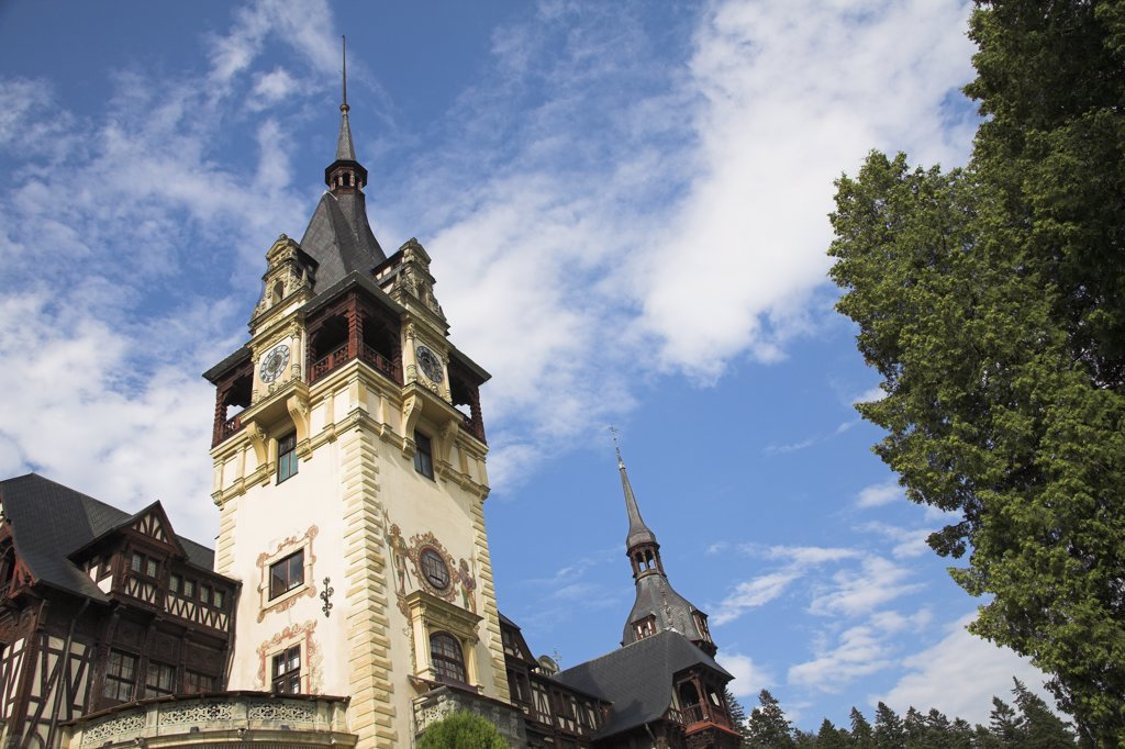 Stock Photo: 4290-3146 Peles Castle, Sinaia, Prahova Valley, Transylvania, Romania