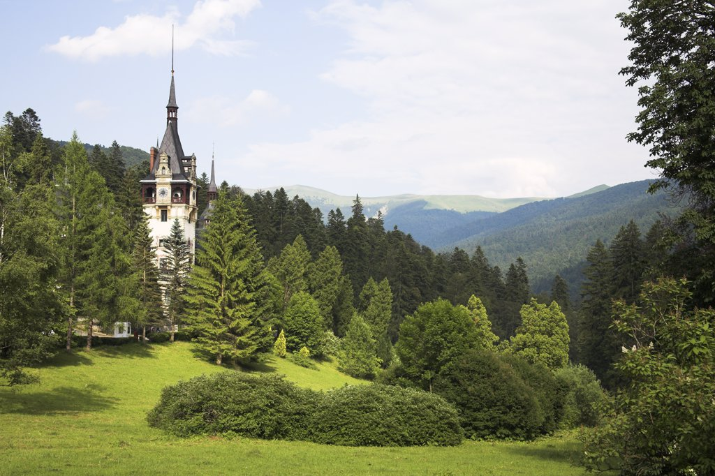 Peles Castle, Sinaia, Prahova Valley, Transylvania, Romania : Stock Photo