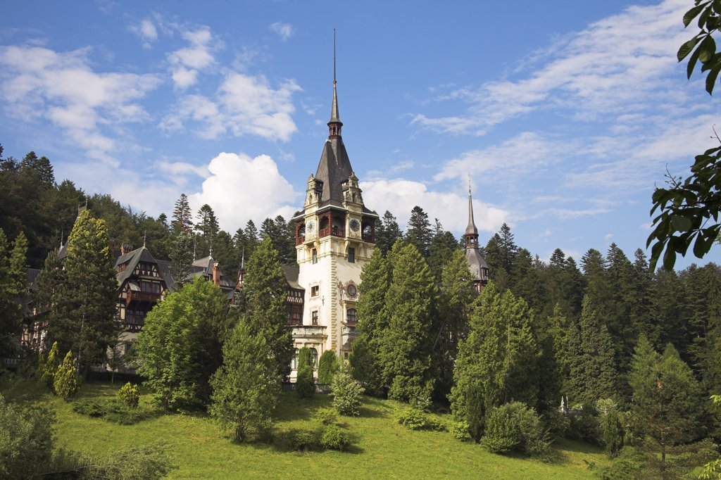 Stock Photo: 4290-3153 Peles Castle, Sinaia, Prahova Valley, Transylvania, Romania