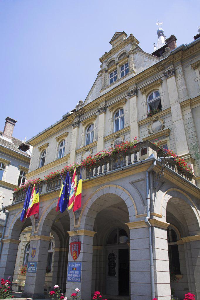 Stock Photo: 4290-3182 Town Hall, Sighisoara, Transylvania, Romania