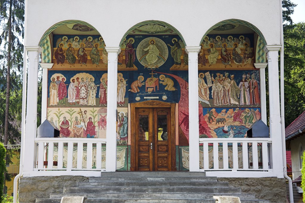 Stock Photo: 4290-3219 Dormition of the Virgin Romanian Orthodox Church, Sovata, Mures County, Transylvania, Romania