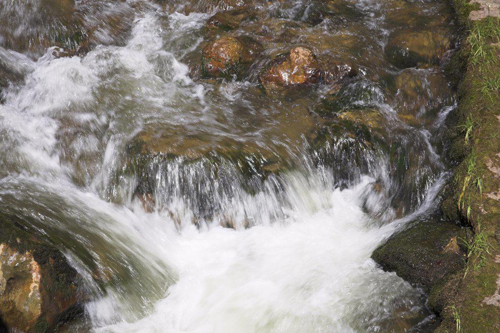 Mountain stream, Bicaz Gorge, Cheile Bicazului Hasmas, Southern Moldavia, Romania : Stock Photo