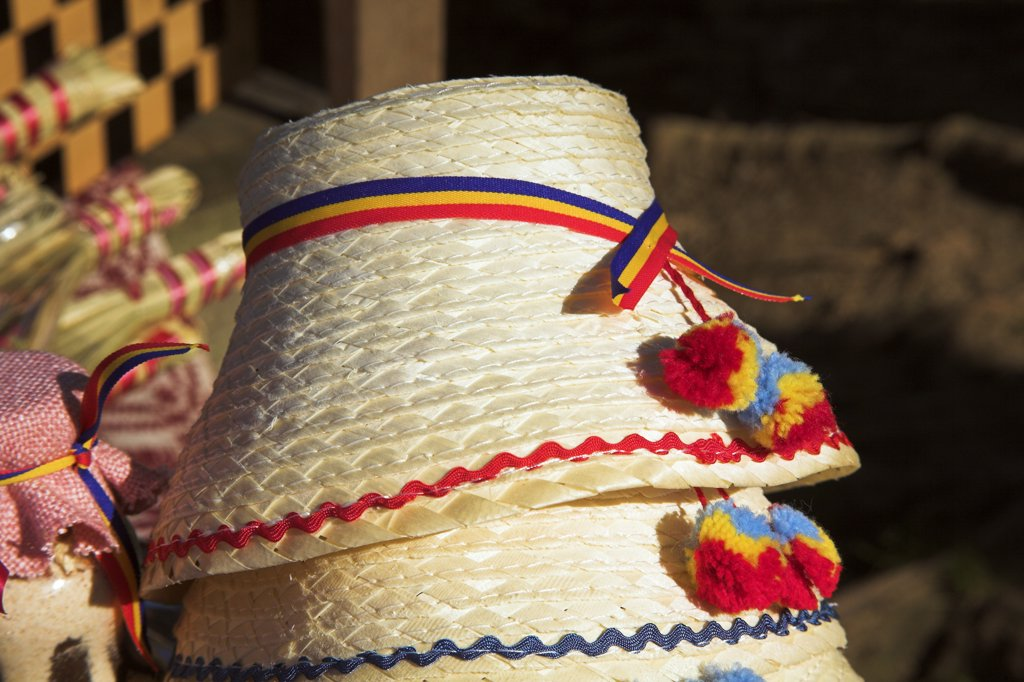 Stock Photo: 4290-3324 Hats for sale in a market, Bucharest, Romania