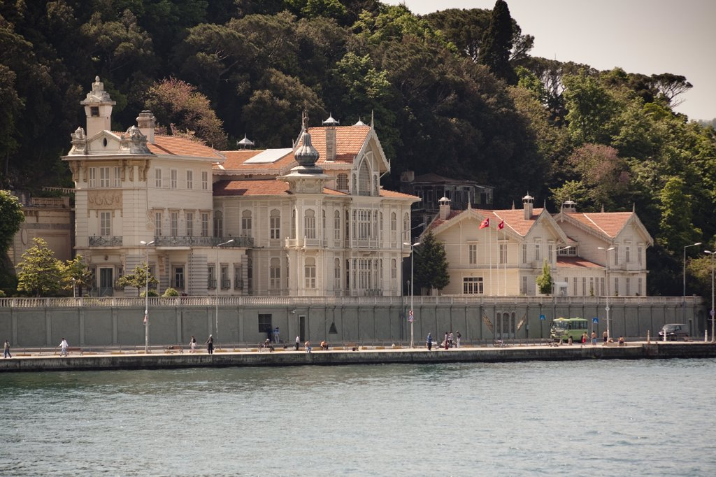 Stock Photo: 4290-3476 Huber Mansion, presidential summer palace, beside the Bosphorus, Tarabya, Istanbul, Turkey