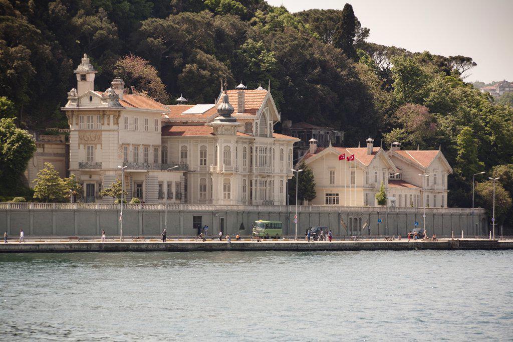 Stock Photo: 4290-3478 Huber Mansion, presidential summer palace, beside the Bosphorus, Tarabya, Istanbul, Turkey
