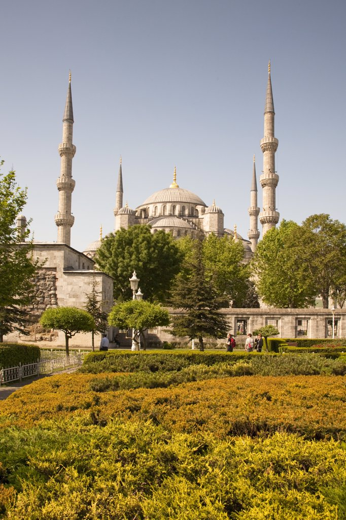 Sultanahmet Mosque, also known as the Blue Mosque and Sultan Ahmed Mosque, Istanbul, Turkey : Stock Photo