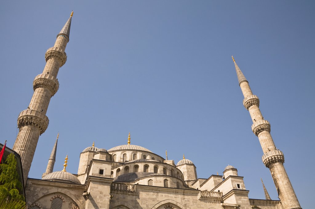 Stock Photo: 4290-3529 Sultanahmet Mosque, also known as the Blue Mosque and Sultan Ahmed Mosque, Istanbul, Turkey