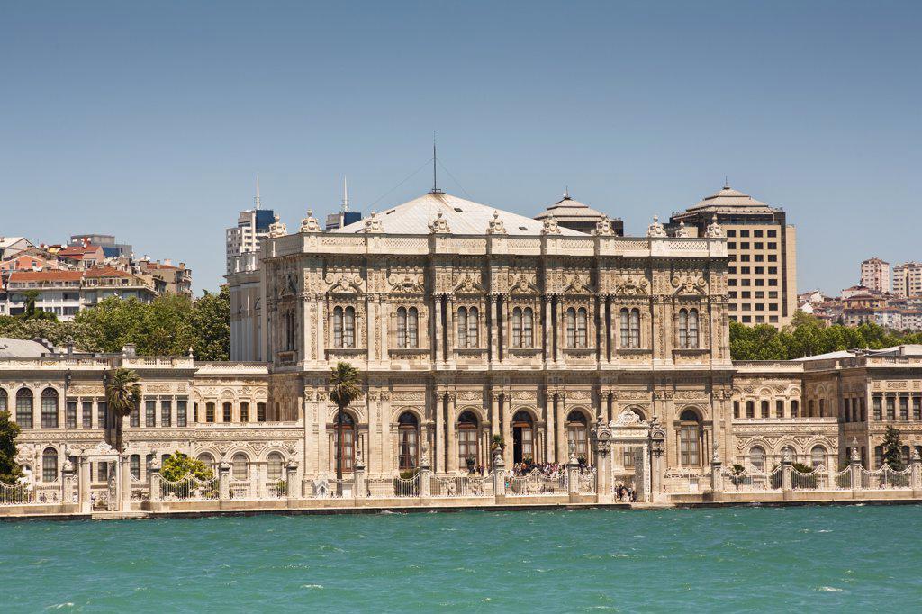 Dolmabahce Palace, beside the Bosphorus, Istanbul, Turkey : Stock Photo