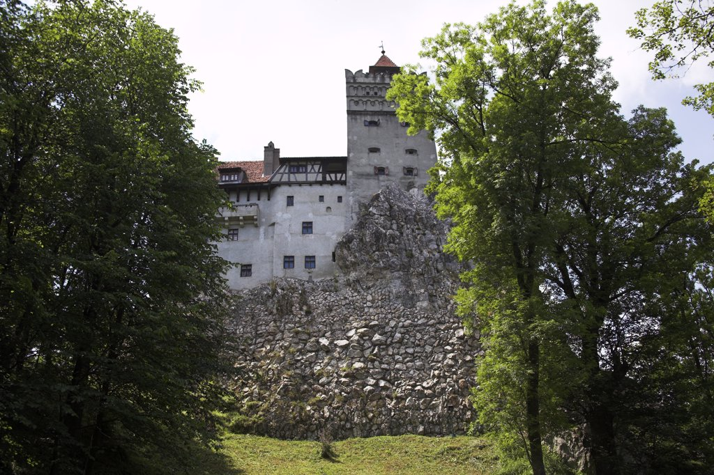 Bran Castle, Bran, near Brasov, Transylvania, Romania : Stock Photo