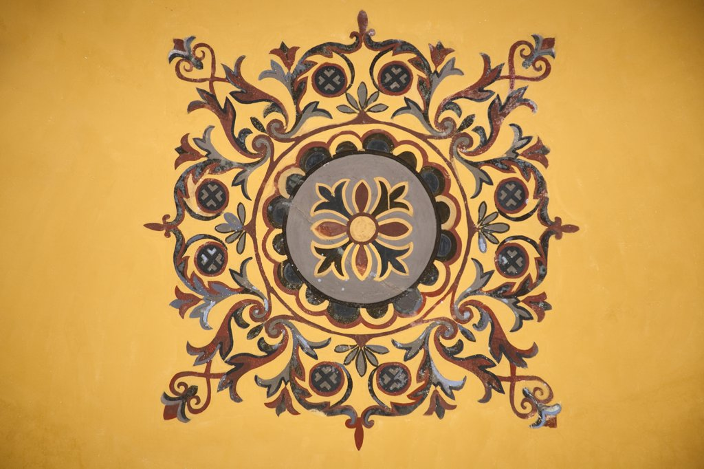 Stock Photo: 4290-3567 Painting on a ceiling inside Haghia Sophia Mosque, Istanbul, Turkey